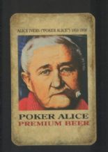 Advertising playing cards. Poker Alice premium beer